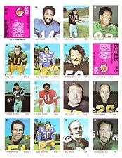 RARE 1971 CFL  Eddie Sargent Sticker Complete Sheet #5