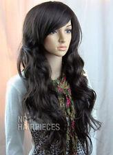 NEW VOGUE BROWN BLACK CURLY WOMENS WIG LIKE REAL HAIR HEAT RESIST + CAP + COMB