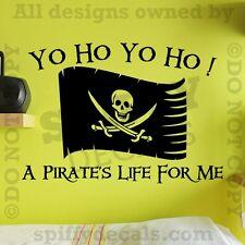 YO HO YO HO A PIRATES LIFE FOR ME FLAG JACK SPARROW Quote Vinyl Wall Decal Decor