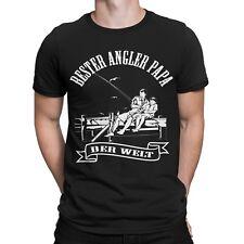 Bester Angler Papa der Welt T-Shirt Fun Angeln Anglergeschenk Daddy Vater Sport