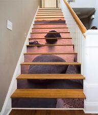 3D Seestück 879 Stair Risers Dekoration Fototapete Vinyl Aufkleber Tapete DE
