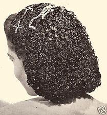 Vintage Crochet PATTERN to make Snood Hairnet Head Band Headgear LoveKnotSnood