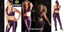 Zumba 2Pc.Set!! Find Your Shine Fuchsia Perfect Leggings M + VBra Top (M or L)