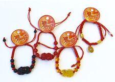 Pulsera para Buena Suerte de Feng Shui Budista Pulsera Roja Con Dragon Chino