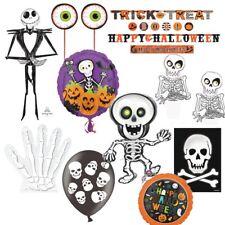 Skeleton Bones Halloween Party Supplies Tableware, Decorations, Balloons, Pinata