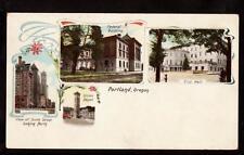 undivided multi view portland oregon pioneer postcard