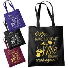 OOPS ho portato il vino, invece di pane Tote Bag-DIVERTENTE SHOPPING BAGS 38x42cm