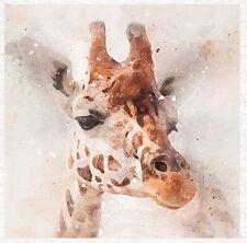 Giraffe watercolour Grunge, now fabric - Fabric Cushion Craft Quilting Panel