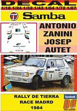 DECAL TALBOT SAMBA ANTONIO ZANINI RALLY TIERRA RACE MADRID 1984 (01)