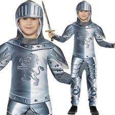 infantil blindada Disfraz de Caballero Niños Cruzado Medieval Disfraz NUEVO