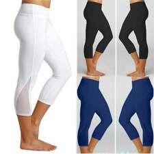 8c3a2339ae6 Womens 3 4 Calf Length Capri Yoga Pants Gym Leggings Fitness Elastic  Sportswear