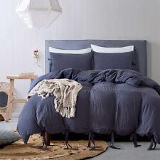 Twint/King/Queen Unifarbe Bettbezug + Kissenbezug Bettwäsche Set Kordelzug XMAS