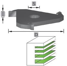 HW (HM) Fraise à disque Z =3 vitre Utah Fräser fentes sk1095 diamètre 47,6