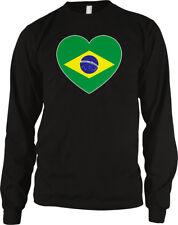 Brazil Flag Heart Colors Brazilian Love National Pride Country Bra Men's Thermal