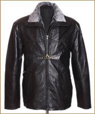 Freeman noir homme smart décontracté véritable souple cuir d'agneau veste en cuir