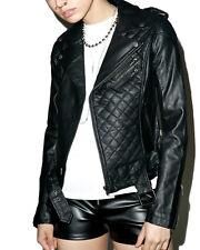 Tripp Quilted Vegan Leather Punk Rocker Biker Moto Motorcycle Emo Coat Jacket