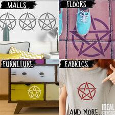 Pentagram star Stencil simbolo riutilizzabili ARTE Craft VERNICE Decorazioni da parete Stencil IDEALE