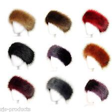 Ladies Faux Fake Fur HeadBand Hat Winter Earwarmer Hat Ski Fox NEW Head Band UK