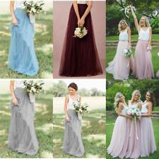 Women Tulle Prom Long Tutu Skirt Bridesmaid Princess Ball Party Dress Underskirt