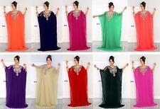 Dubai-Stil Handarbeit Farasha Kaftan Takschita Marokkanisches Maxi Abendkleid N9