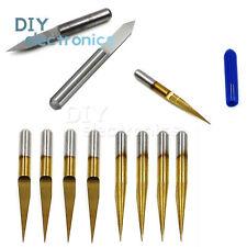 3.175mm Carbide PCB Engraving Bits CNC Router Tool 0.1mm V-Shap US