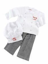 Bilo Baby Boy 3-Pcs Girl Unisex Cotton Cook Chef Costume, Pants and Hat
