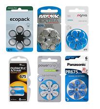 Hörgerätebatterien Größe 675 blau Duracell, Varta, Rayovac, Siemens, Panasonic