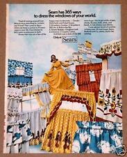 1973 Sears Print Ad Window Sunshine Curtains