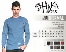 Shaka Wear Mens Heavyweight Long Sleeve Thermal Shirt Any Color Free Shipping