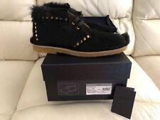 Prada Zapatos para hombre negro de crin tamaños Reino Unido 8 & 9 nuevo PVP £ 1160