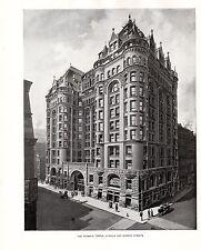Película para impresión 1898 Chicago ~ la mujer templo ~ la Salle & Monroe calles
