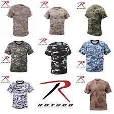 NEW! Rothco Military Tactical Hunting Digital & Camo T-Shirts Short Sleeve