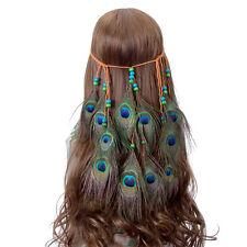 Indian Peacock Feather Hair band Feather Headband Feather Headdress Weave Boho