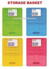 Fold Able pieghevole piatto di plastica Storage Organizer Scrivania Cesto - 4 Colori Mini 2.8l