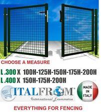 Galvanized Steel Double Swing Gates - Mesh Fencing – Garden - Green
