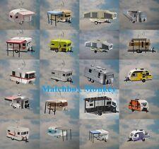 Airstream, Shasta, Winnebago, Holiday, Popup Camper Trailer Christmas Ornament