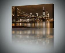 New York Brooklyn Bridge NY CANVAS PRINT Wall Art Decor Giclee *4 Sizes* CA15