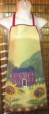 Apron - Long Sunflowers & Farmhouse scene - 100% Polyester