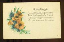 LOVING GREETINGS Golden Poppies HAPPY MEMORIES POSTCARD