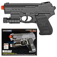 "6.5"" Spring Airsoft Black Laser FlashLight Pistol Gun 175fps BB Air Soft m888af"
