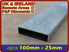 Aluminium Rectangular Tube ║ aprx 100mm x 25mm ║ box section,profile,pipe,alloy