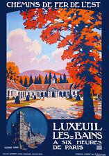 Affiche chemin de fer Est - Luxeuil-les-Bains