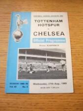 27/08/1969 Tottenham Hotspur v Chelsea (leggermente piegati). NO difetti evidenti, UNL