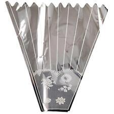 XL Metallic Bouquet Sleeve Wrap - Flower Wrapping Cone Cellophane Cello