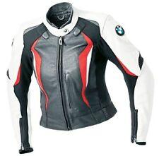 Le Signore BMW Giacca in Pelle da Motociclista Motocicletta Pelle Giacca EU-48