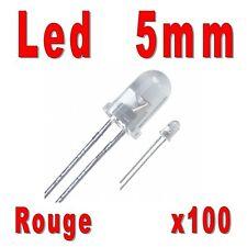 100x LED 5mm Rouges 4000mcd