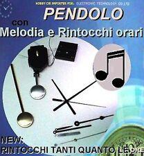MECCANISMO OROLOGIO MOVIMENTO a PENDOLO MELODIA RINTOCCHI GONG ORARI & ACCESSORI