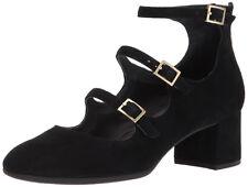 New Rockport NOVALIE Total Motion 3-Strap Block Heel Leather Women Shoes