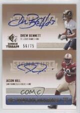 2007 SP Rookie Threads #SPM2-BH Drew Bennett Jason Hill Auto Football Card