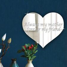 Personalised Mum Keepsake Plaque Acrylic Love Heart Mirror Mothers day Present